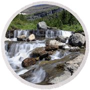 Siyeh Bend Going-to-the-sun Glacier National Park-5 Round Beach Towel