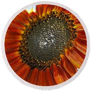Sizzling Hot Sun Flower Round Beach Towel