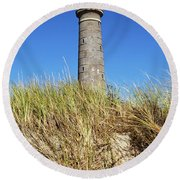 Skagen Denmark - Lighthouse Grey Tower Round Beach Towel