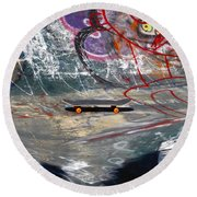 Skateboard Round Beach Towel