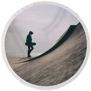 Skater Boy 006 Round Beach Towel