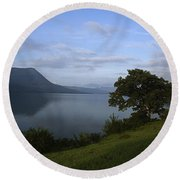 Skc 3959 Overlooking The Lake Round Beach Towel