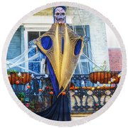 Skeleton Ghost Round Beach Towel
