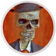 Skeleton Man Round Beach Towel