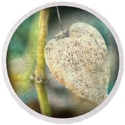 Skeleton Physalis Round Beach Towel