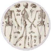Skeletons Round Beach Towel