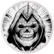 Skeletor Round Beach Towel