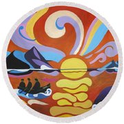 Skellig Round Beach Towel