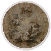 Sketch For The Banqueting House Ceiling Round Beach Towel