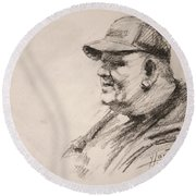 Sketch Man 15 Round Beach Towel