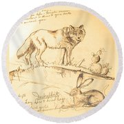 Sketches For Sale Round Beach Towel
