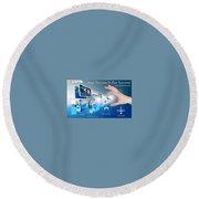 Skginfosolutions-web Design And Development Round Beach Towel