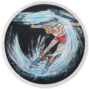 Ski Bum Round Beach Towel