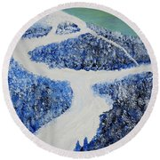 Ski Dream Round Beach Towel