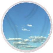 Skies Round Beach Towel
