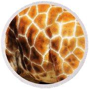 Skin Deep - Buy Giraffe Art Prints Round Beach Towel