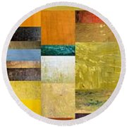 Skinny Color Study L Round Beach Towel