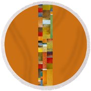 Skinny Color Study L Round Beach Towel by Michelle Calkins