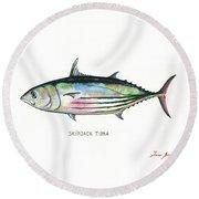 Skipjack Tuna Round Beach Towel