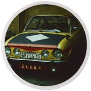 Skoda 110r Coupe Round Beach Towel