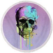 Skull 6 Round Beach Towel