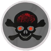 Skull And Bones Round Beach Towel