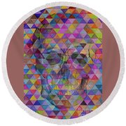 Skull Triangle Round Beach Towel