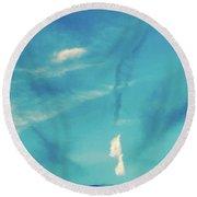 Sky Abstract-casco Bay Round Beach Towel