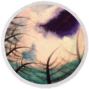 Sky And Land Symphony Round Beach Towel