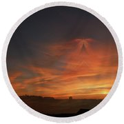 Sky Angel Round Beach Towel
