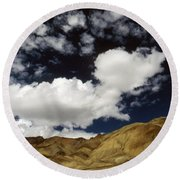 Sky Blue Sky Round Beach Towel