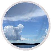 Sky Calm Round Beach Towel