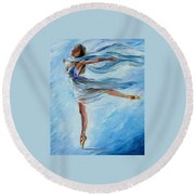 Sky Dance Round Beach Towel