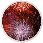 Sky Explosion Round Beach Towel by Phill Doherty