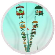 Sky Gliders Over Crowd Round Beach Towel