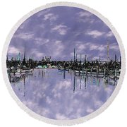 Sky Harbor Round Beach Towel