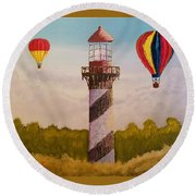 Sky High Round Beach Towel