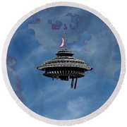 Sky Needle Round Beach Towel