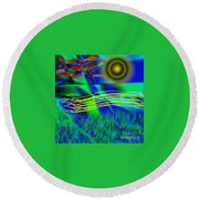 Sky Of Mind Round Beach Towel
