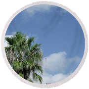Sky Palm Round Beach Towel