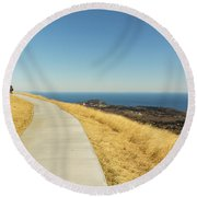 Sky Road Round Beach Towel