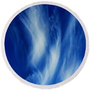 Sky Sculpting Round Beach Towel