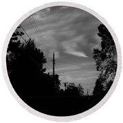 Sky With Clouds Round Beach Towel