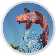 Skyfish Round Beach Towel