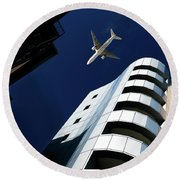 Skyline Round Beach Towel