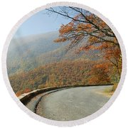 Skyline Drive I Round Beach Towel