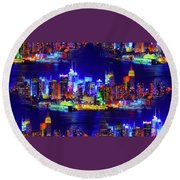 Skyline Island Round Beach Towel