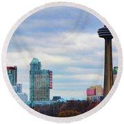 Skyline Niagara Round Beach Towel