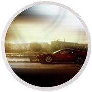 Skyline Speed Round Beach Towel