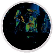 Skynyrd Sf 1975 #10 Crop 2 Enhanced In Cosmicolors Round Beach Towel